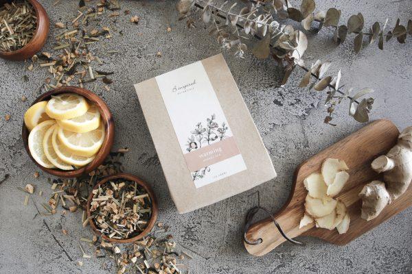 Warming herbal tea