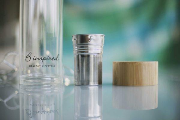 Glass bottle tea infuser