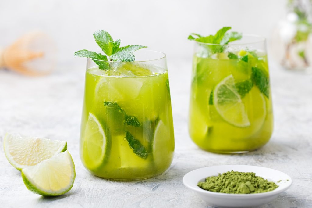 Iced matcha green tea