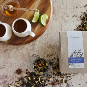 Golden spice herbal tea