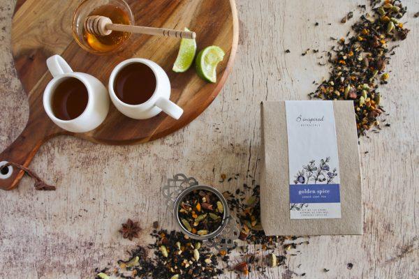 Golden spice herbal tea