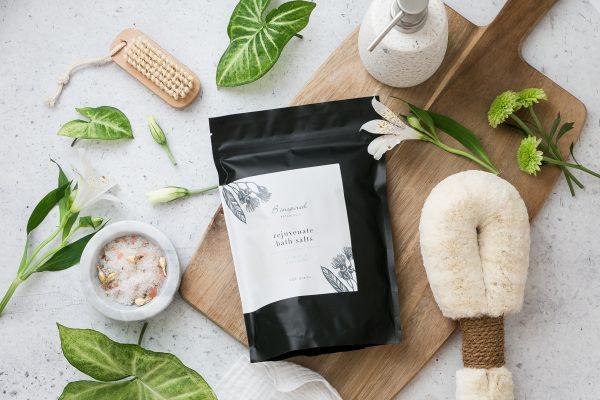 Epsom bath salts rejuvenate