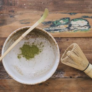 Matcha bamboo whisk and spoon