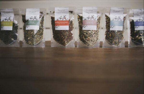 Sample sizes B inspired organic herbal teas