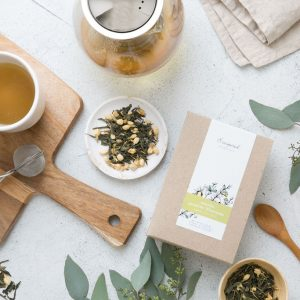 Sencha jasmin blossom organic herbal tea