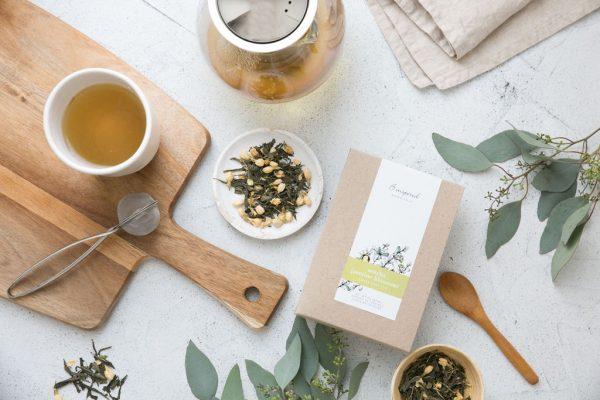 Sencha jasmin blossom organic herbal tea