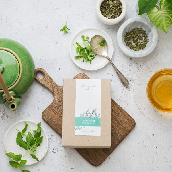 Three mint organic herbal tea..